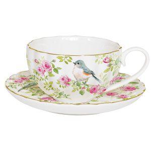 """Чашка с блюдцем """"Птицы в саду"""" в подарочной упаковке"""