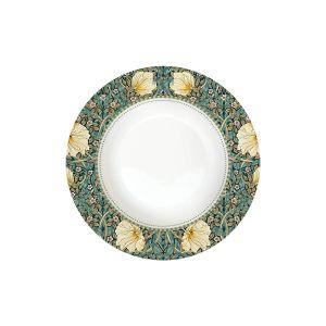 "Тарелка суповая ""Уильям Моррис"" (темно-зеленая) без инд.упаковки"
