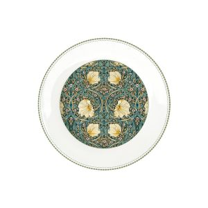 "Тарелка обеденная ""Уильям Моррис"" (темно-зеленая) без инд.упаковки"