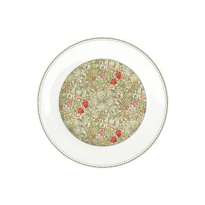 "Тарелка обеденная ""Уильям Моррис"" (зелёная) без инд.упаковки"
