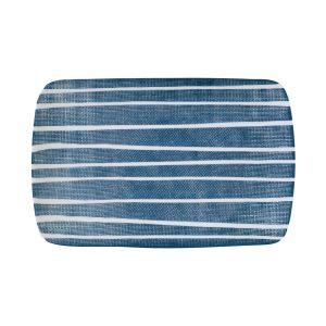 """Блюдо прямоугольное """"Бриз"""" (синее с белыми полосками) без инд.упаковки"""