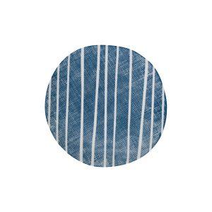 "Тарелка закусочная ""Бриз"" (синяя с белыми полосками)  без инд.упаковки"