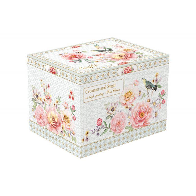 """Набор """"Райский сад"""": сахарница + молочник в подарочной упаковке"""