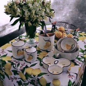 """Скатерть прямоугольная """"Лимоны"""""""