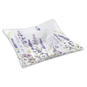 """Блюдо сервировочное квадратное """"Lavender field"""" в подарочной упаковке"""