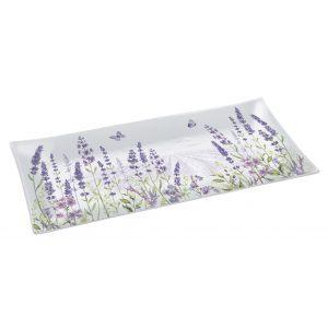 """Блюдо сервировочное прямоугольное """"Lavender field"""" в подарочной упаковке"""