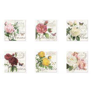 """Набор из 6 подставок под стаканы """"Jardin Botanique"""" в подарочной упаковке"""