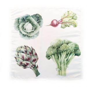 """Салфетка """"Овощи. Капуста, артишок и редис"""""""