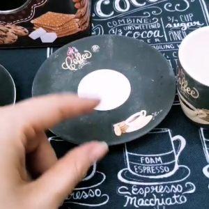 """Набор из 4 чашек для эспрессо """"ИТАЛЬЯНСКИЙ КОФЕ"""" 80 мл."""
