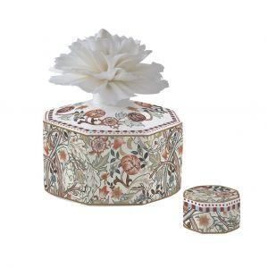 """Ароматический диффузор """"Уильям Моррис"""" (кремовый) с цветком в подарочной упаковке"""