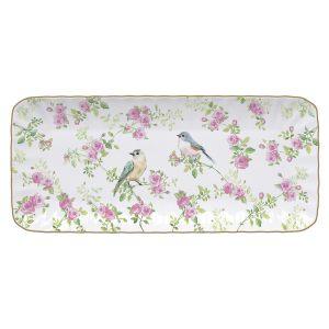 """Блюдо прямоугольное """"Птицы в саду"""" в подарочной упаковке"""