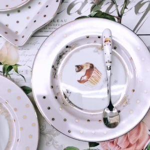 Набор из четырех чайных ложек Элеганс-Пирожные