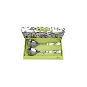 """Набор сервировочных предметов для салата """"Ботанический сад"""" (ложка и вилка)"""