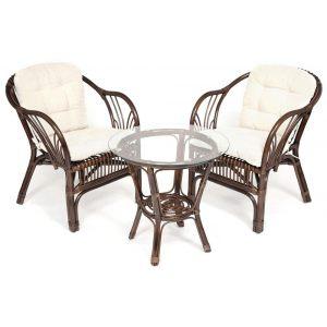 Террасный комплект «COLOMBIA» (2 кресла + стол)
