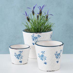 """Кашпо """"Голубые цветы"""""""