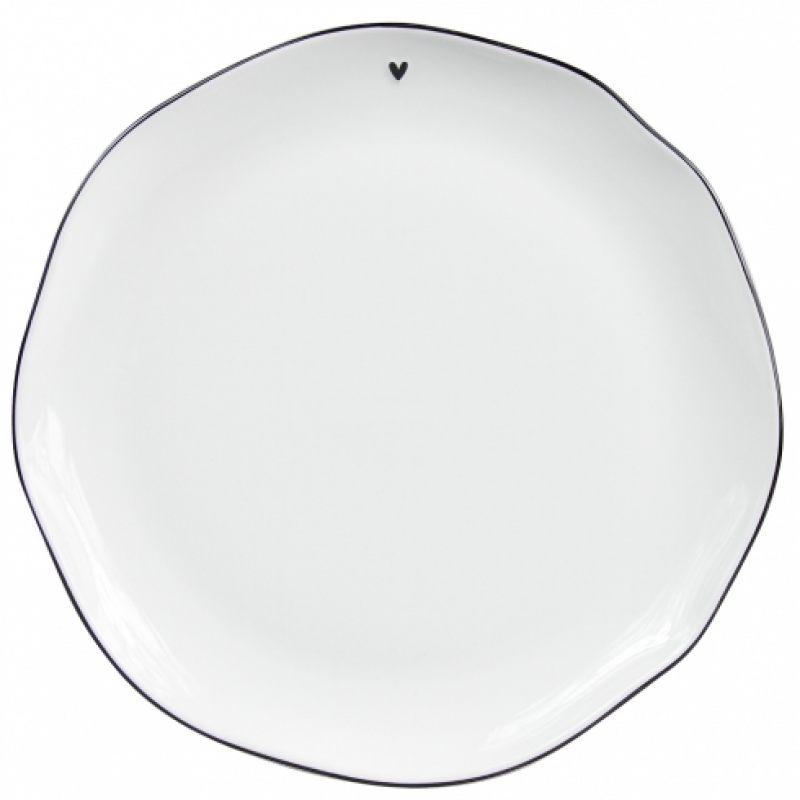 """Тарелка обеденная """"White/edge black"""""""