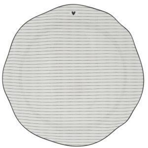"Тарелка обеденная ""Stripes white/edge back"""