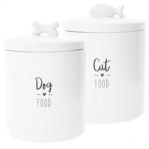 """Ёмкость для хранения """"Dog/Cat in black"""" большая"""