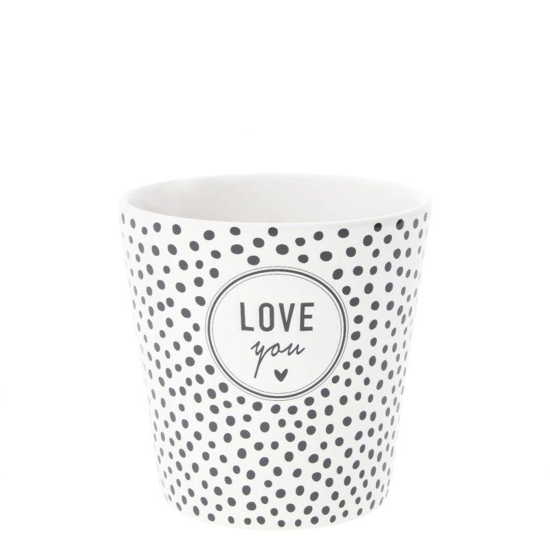 """Чашка """"Dots & love you"""" (для кофе)"""