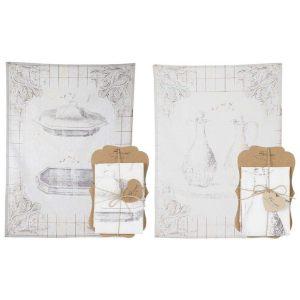 Полотенце кухонное с рисунком блюда/кувшина в ассортименте