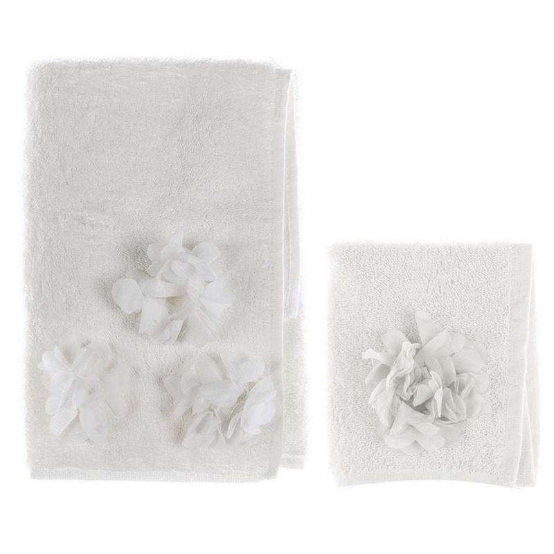 Комплект махровых полотенец с цветами