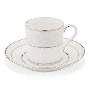 """Блюдце для чашки кофейной """"Монтвейл (платиновый кант)"""""""