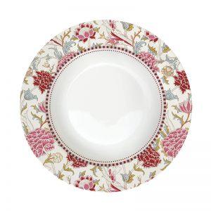 "Тарелка суповая ""Уильям Моррис"" (розовая)"