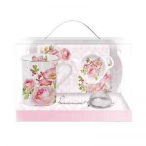 """Подарочный набор для чаепития """"Дамасская роза"""""""