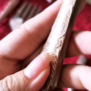Набор сервировочный салатный: вилка и ложка