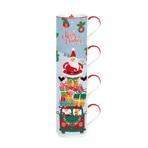 """Набор кружек-башня """"Christmas friends: Merry Christmas"""" в подарочной упаковке"""