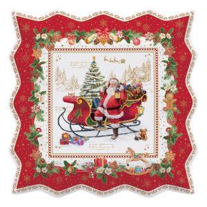 """Блюдо сервировочное квадратное """"Christmas memories"""" в подарочной упаковке"""