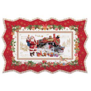 """Блюдо сервировочное прямоугольное """"Christmas memories"""" в подарочной упаковке 35х23 см"""