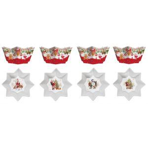 """Набор из 4 салатников """"Christmas memories"""" в подарочной упаковке"""