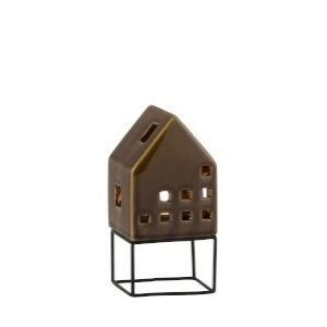 "Подсвечник фарфоровый ""Дом"" (на металлическом каркасе) 8х8х16 см"