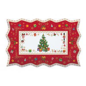 """Блюдо сервировочное прямоугольное """"Christmas ornaments"""" в подарочной упаковке"""