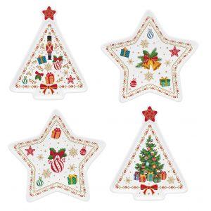 """Набор из 4-х блюдец для чайных пакетиков """"Christmas ornaments"""""""