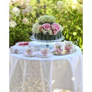 """Набор из 2 чашек с блюдцами для кофе """"Дамасская роза"""" в подарочной упаковке"""