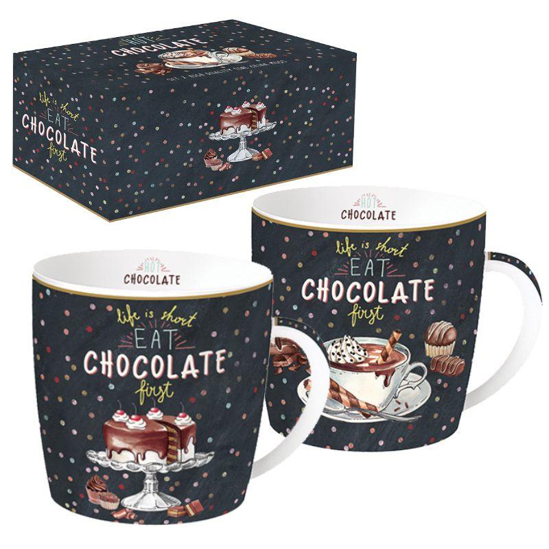 """Набор из 2 кружек """"Hot Chocolate"""" в подарочной упаковке"""