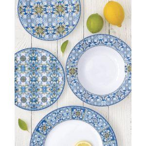 Тарелка Майолика (голубая)