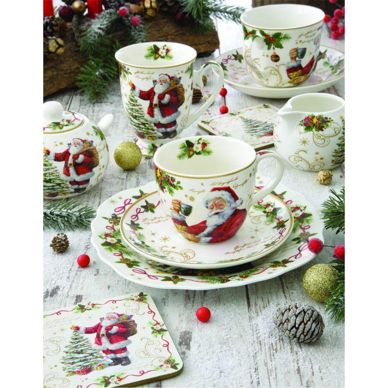 """Набор для завтрака (чашка и блюдце) """"Magic Christmas"""" в подарочной упаковке"""