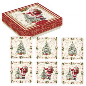 """Набор из 6 подставок под стаканы """"Magic Christmas"""" в подарочной упаковке"""