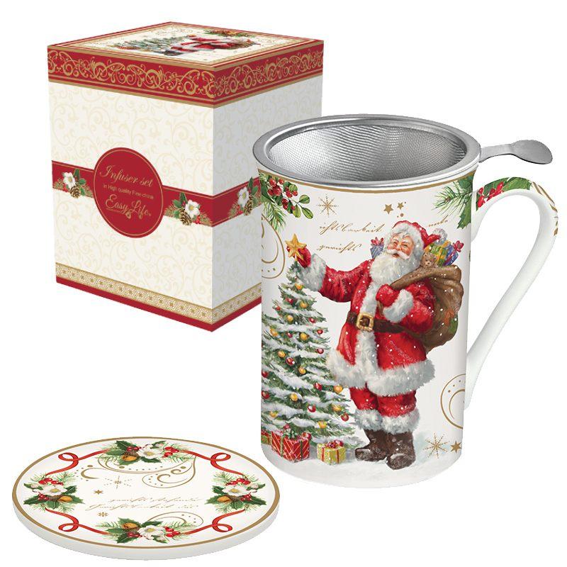 """Кружка заварочная с крышкой и ситечком """"Magic Christmas"""" в подарочной упаковке"""