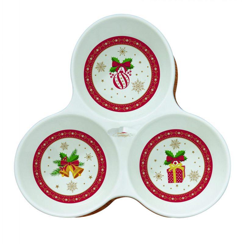 """Набор для закусок """"Christmas ornaments"""" (менажница) в подарочной упаковке"""