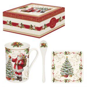 """Набор """"Magic Christmas"""" (кружка на подставке и ложка) в подарочной упаковке"""