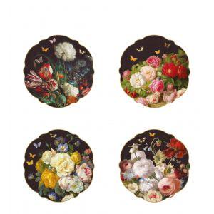 """Набор из 4 десертных тарелок """"Victorian Garden"""" в подарочной упаковке"""