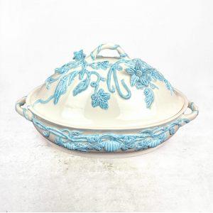 Блюдо для рагу с голубыми цветами