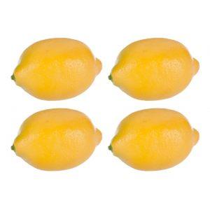"Набор из 4-х шт. декор ""Лимоны"" желтые"