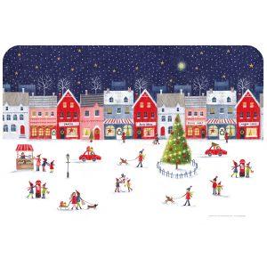 """Салфетка под горячее """"Christmas Village"""""""