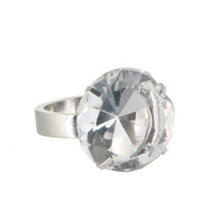 """Кольцо для салфетки """"Перстень"""" с прозрачным камнем"""