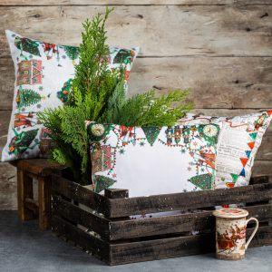 Новогодние подушки, пледы&шторы